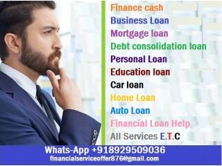 URGENT LOAN OFFER Whats App 918929509036