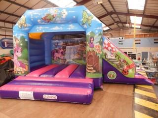 Unicorn/Fairy Bouncy Castle Slide Combo