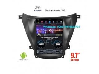 Hyundai Elantra i35 Avante vertical Tesla Android radio GPS Camera
