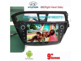 Hyundai i20 2014-2016 uk au right hand side radio android GPS camera